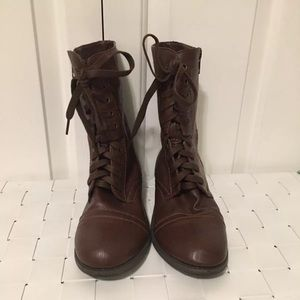 Rampage brown combat boots